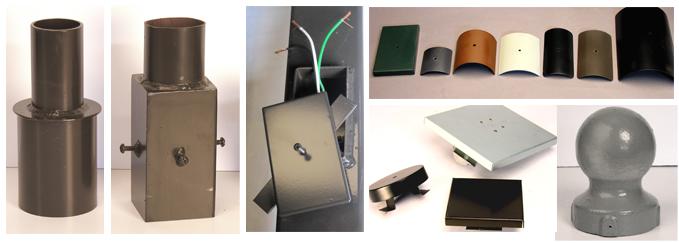 Tenon Adapters | Hand Hole Covers | Pole Caps | Finials